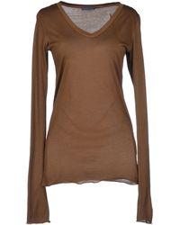Ralph Lauren Khaki T-shirt - Lyst
