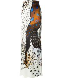 Roberto Cavalli 'Ravenli' Print Maxi Skirt - Lyst