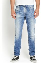 Replay Mens Anbass Laserblast Slim Fit Jeans - Lyst