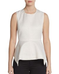 Elizabeth And James Yumi Jacquard Peplum Top - Lyst