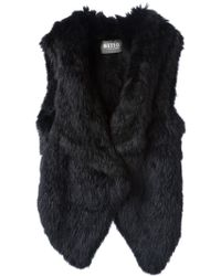 Meteo By Yves Salomon B Fur Gilet - Lyst