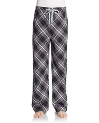Psycho Bunny Plaid Cotton Poplin Lounge Pants - Lyst