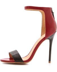 L.a.m.b. Destiny Single Band Sandals Redblack - Lyst