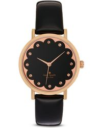 Kate Spade Novelty Metro Rose Goldtone Stainless Steel & Leather Strap Scallop Watch - Lyst