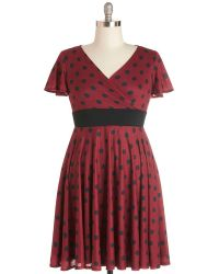 ModCloth Feeling Footloose Dress in Red - Lyst