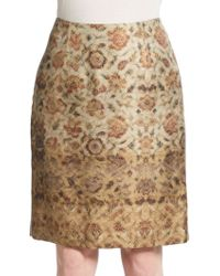 Pauw Silk Printed Pencil Skirt - Lyst