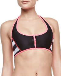 Juicy Couture Promenade Sporty Halter Swim Top - Lyst