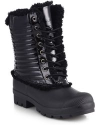 Hunter Mid-calf Shearling-lined Rubber Rain Boots - Lyst