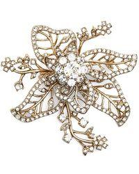 Marchesa - Crystal Flower Brooch - Lyst