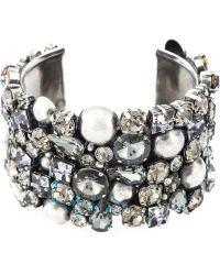 Alberta Ferretti - Crystal Cuff Bracelet - Lyst