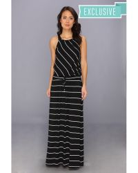 Michael stars Harlow Stripe Maxi Dress in Black | Lyst