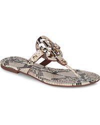 Tory Burch Miller Snake-Print Sandals - For Women - Lyst