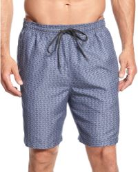 Calvin Klein Zig Zag Swim Trunks - Lyst