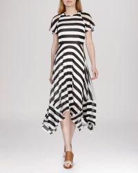 Karen Millen Dress - Draped Striped Jersey - Lyst