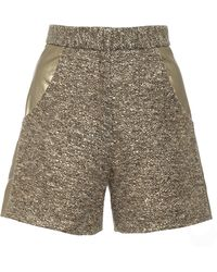 Kalmanovich Leather Detailed Shorts - Lyst