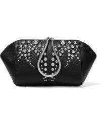 Alexander Wang - Chastity Studded Textured-leather Cosmetics Case - Lyst