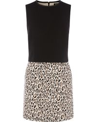 Oasis Animal Print 2 In 1 Dress - Lyst