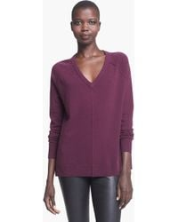 Autumn Cashmere V-Neck Cashmere Sweater - Lyst