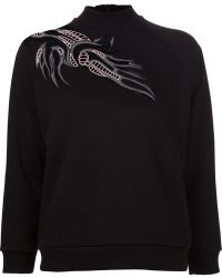 Christopher Kane Crochet Shoulder Sweater - Lyst