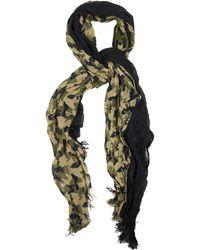 Yohji Yamamoto Camouflage Crinkled Scarf - Lyst