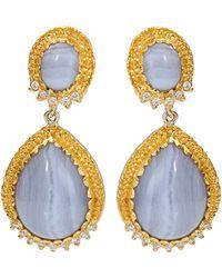 Victor Velyan - Blue Lace Agate Earrings - Lyst