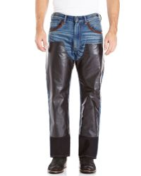 Junya Watanabe Contrast Panel Jeans - Lyst