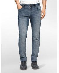 Calvin Klein | Jeans Tapered Leg Marine Grey Wash Jeans | Lyst