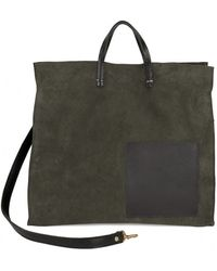 Clare V. - Army Suede Simple Tote - Lyst