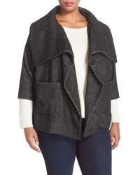 NYDJ - Crop Wrap Blanket Coat - Lyst