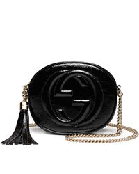 Gucci Soho Patent Leather Mini Chain Bag - Lyst