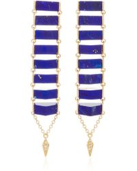 Karma El Khalil - Gold Ladder Earrings - Lyst
