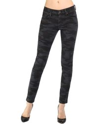 James Jeans Green Moto Skinny - Lyst