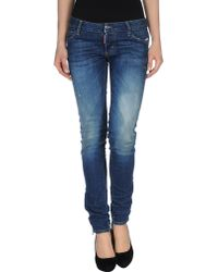 DSquared2 Blue Denim Pants - Lyst
