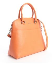 Furla  Embossed Leather Victoria M Dome Tote - Lyst