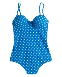 J.Crew Dd-Cup Dotty Underwire One-Piece Swimsuit - Lyst