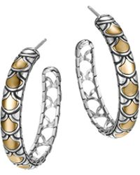 John Hardy Naga Gold  Silver Medium Hoop Earrings - Lyst