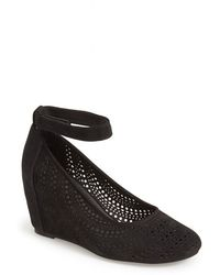 Jeffrey Campbell Women'S 'Cirque' Suede Ankle Strap Wedge Sandal - Lyst