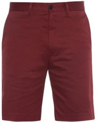 Acne Studios Adrian Stretch-Cotton Twill Shorts - Lyst