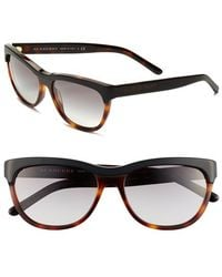 Burberry 56Mm Sunglasses brown - Lyst
