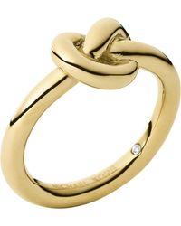 Michael Kors Knot Ring - Lyst