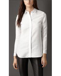 Burberry Fil Coupé Shirt - Lyst