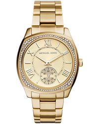 Michael Kors Bryn Golden Stainless Steel Glitz Watch - Lyst