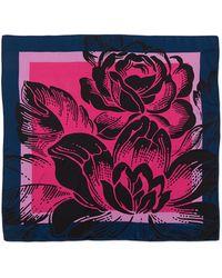Carolina Herrera Geometric Floral-Print Square Silk Scarf - Lyst