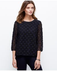 Ann Taylor Link Lace Top - Lyst