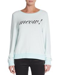 Wildfox Meow Sweater - Lyst