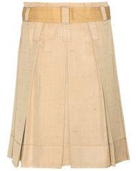 Marc Jacobs Pleated Silk Skirt - Lyst