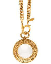 Chanel Pre-Owned Swirl Border Loupe Necklace - Lyst