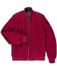 Paul Smith | Men's Burgundy Down-filled Quilted Bomber Jacket | Lyst