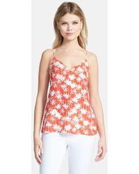 Trouvé Palm-Print V-Neck Camisole orange - Lyst