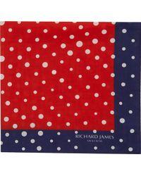 Richard James - Polka Dot Pocket Square - Lyst